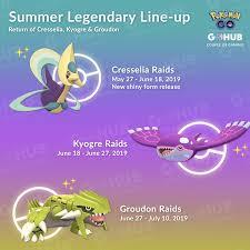 Cresselia Kyogre And Groudon Returning To Raids Pokemon
