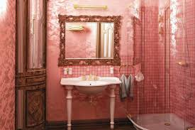 pink decorated bathrooms