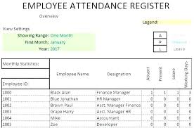 class register template employee attendance yearly record template daily sheet top excel