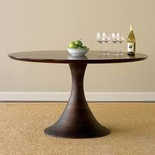 casablanca round dining table dark walnut brown