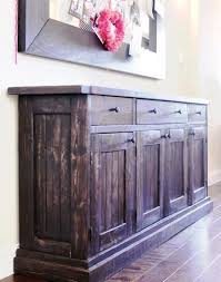 build your own rustic furniture. Build Your Own Rustic Sideboard/Buffet Table. Free #Plans At Ana-White Furniture