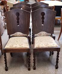 item r47b set of six english oak dining chairs c 1920