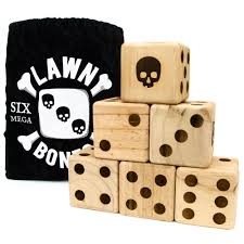 Lawn Game With Wooden Blocks Amazon Set of 100 Lawn Bones 100100 Jumbo Pine Wood Dice with 64