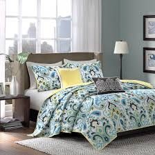 gray yellow and turquoise bedding bedding designs