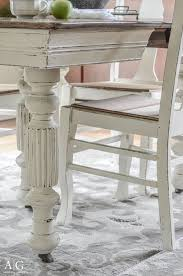 beautiful antique table and chairs refinished with chalk paint andersonandgrant