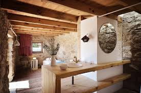 Romantic Rustic Bedroom Regeneration Of An Old Stone Ruin Into A Romantic House