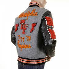 whitesville regular fit grey wool black leather sleeve award letterman philadelphia stadium jacket wv12310