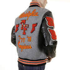 whitesville regular fit grey wool black leather sleeve award letterman philadelphia stadium jacket wv12310