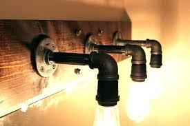 gas pipe track lighting light fixture for plumbing galvanized black simple industrial bathroom fixtures photo