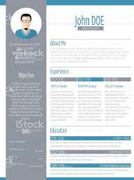 Modern Resume Cv Design With Photo Stock Vector Art 466767600 Istock