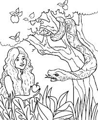 Printable Adam And Eve Coloring Pages For Kids Cool2bkids Fairy