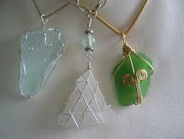 wire wrapped sea gl jewelry