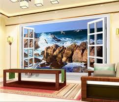 3d wallpaper custom mural beach sea gull painting wall papers home decoration 3d wall murals wallpaper