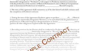 Student Agreement Contract Film Production Agreement Contract Image collections - Agreement ...