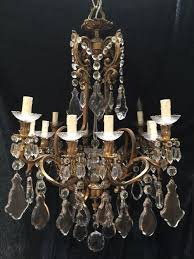 french bronze crystal ormolu 12 light antique chandelier 1 of 12