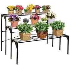 Flower Display Stand For Sale Large Modern Black Metal 100 Tier Shelf Flower Plant Display Stand 36