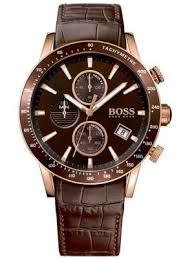 men s designer watches creative watch co hugo boss men s rafale rose gold leather chrono watch a brown ip bezel