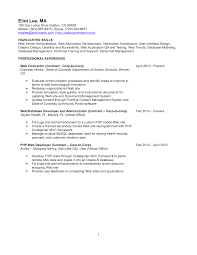 content management systems experience resume resume for web content writer
