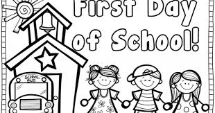 Small Picture Printable Free Printable First Day Of School Coloring Page inside