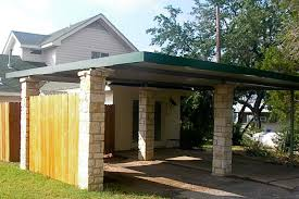 Carports  Building An Attached Carport Steel Frame Carport Kits Attached Carport Designs