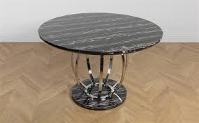 savoy round black marble and chrome dining table only 299 99