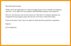 Sample Resignation Letter 2 Weeks Notice Gorgeous Two Weeks Notice Letter Sample Resignation Letter Sample 48 Weeks