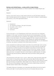 essays about romeo and juliet introduction to romeo and juliet  essay plan trag