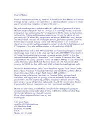 Sample Cover Letters Geology Stunning Cover Letter Examples For