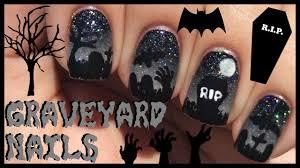 Graveyard Nail Art Tutorial | Halloween Nails - YouTube