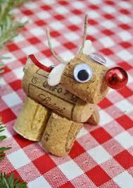 reindeer christmas cork craft