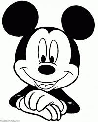 Mickey Mouse Vector Black And White - Novocom.top