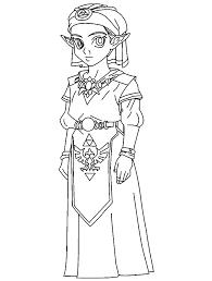 Prinses Kleurplaten Zelda