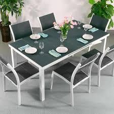 Ensemble Table à Manger Et Chaises Beatrice Blanc Gris Table