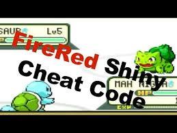 firered shiny pokemon cheat code