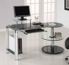 stylish ikea desks for small spaces home office with glass top and floating desk shelf plus