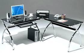 glass top computer table computer desks glass computer desk glass and chrome computer table black tempered glass top computer table