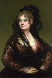 in western fashion  in spain some society ladies rebelled against french fashion by dressing as majas like dona isabel de porcel 1805