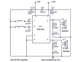 hi fi amplifier circuit diagram and schematic using tda 2616 ic hi fi amplifier circuit schematic