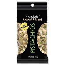 Wonderful Pistachios Roasted Lightly Salted 16 Oz Wonderful Pistachios Roasted And Salted 1 Oz Pack 12 Box