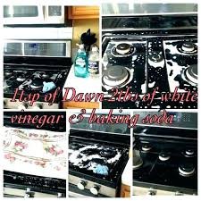 how to clean black glass gas stove top grates burner for a