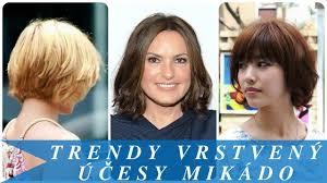 Trendy Vrstvený účesy Mikádo Vidlyxyz