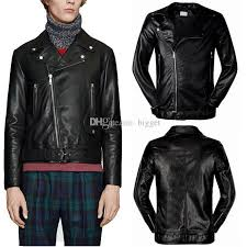 man classic black leather biker jacket buckle belt hem zipped cuffs asymmetrical zip lapel neck pu leather outerwear zipped cuffs buckle belt lapel neck