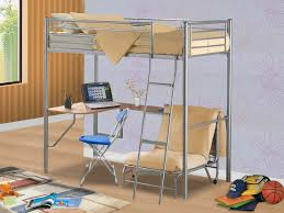 image of style loft bed with desk and futon