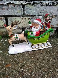 asda rare gnome santa sleigh