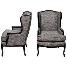 gray wingback chair. Gold Wing Back Chair Wingback Desk Studded Grey Lounge Arm Gray
