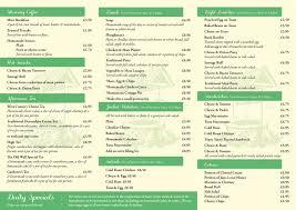 Restaurant Menu - Restaurant - The Old Well Garden Centre - Uffculme