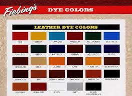 Eco Flo Dye Color Chart Dyes Maine Line Leather