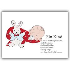 Süße Babykarte Zur Geburt Mit Schnuller Baby Ein Kind Macht Das