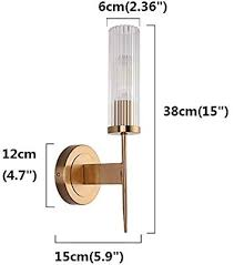 bokt crystal wall lamp led light ac110v 220v modern sconce bedroom corridor living room lights for home lighting