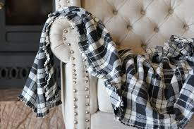 make a cozy flannel fringe blanket so simple you could even make this no
